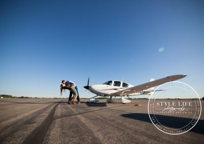 Sunrise Airplane Engagement Session – Torri & Fisher