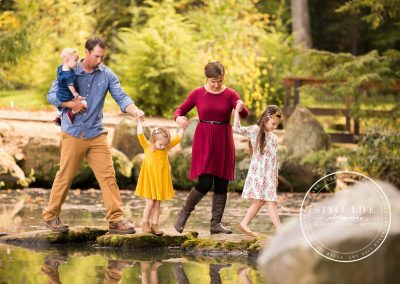 Fall Family Session – Little Girls, Falling Leaves, and Love