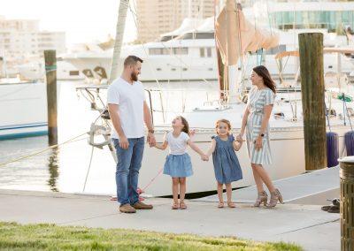 Sarasota Family Session – Sailboats at Golden Hour