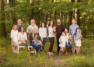 Extended Family Portrait – A Wooded Setting for 3 Generations